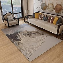 Rug bedroom decor accessories Gray gold ink