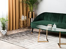 Rug Beige and Brown Cowhide Leather 200 x 140 cm