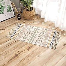 Rug Beige Brown Ethnic Area Rugs Cotton Carpet
