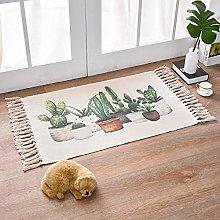 Rug Beige Cactus Area Rugs Cotton Carpet With