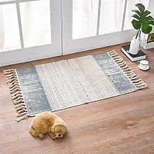 Rug Beige Gray Nostalgic Area Rugs Cotton Carpet