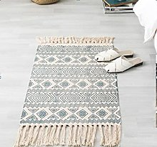 Rug Beige Green Ethnic Area Rugs Cotton Carpet
