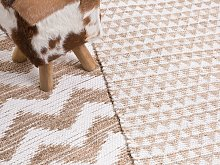 Rug Beige Jute and Cotton Blend 160 x 230 cm Hand