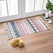 Rug Beige Pink Fresh Area Rugs Cotton Carpet With
