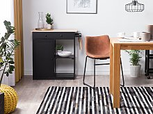 Rug Black and Grey Cowhide Leather 200 x 140 cm