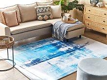 Rug Blue Multicolour 160 x 230 cm 3D Print Low