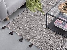 Rug Brown 140 x 200 cm Geometric Pattern with