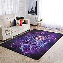 Rug Butterfly Dream Catcher Purple Area Rug Design
