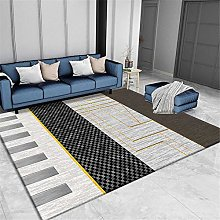 Rug carpet tiles for stairs Black gray yellow