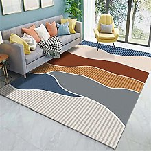 Rug carpet tiles for stairs Brown blue red