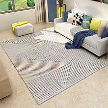 Rug carpet tiles for stairs Easy clean gray yellow
