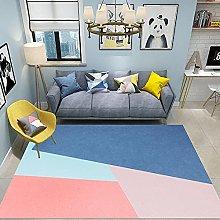 Rug childrens rug Pink blue extreme simple