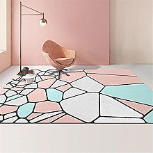 Rug childrens rugs for playroom Pink blue gray