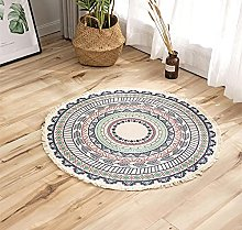 Rug Colored Beige Area Rugs Round Cotton Carpet