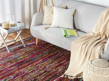 Rug Dark Multicolour Cotton 160 x 230 cm
