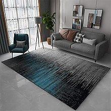 Rug desk rug Gray blue simple ink style living