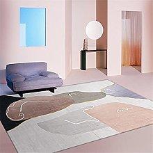 Rug desk rug Pink purple gray minimalist doodle