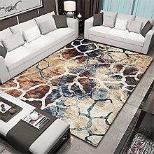 Rug desk rug Soft and comfortable Blue brown