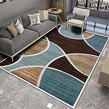 Rug desk rug Soft and comfortable Brown blue