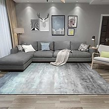 Rug Extra Large Area Abstract blue, gray and white