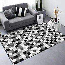 Rug Extra Large Area Black and white gray