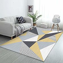 Rug Extra Large Area Yellow, gray and white