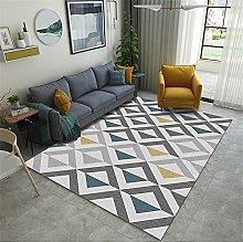 Rug Fireplace Rug Gray yellow blue triangle