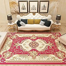 Rug fireplace rug Living room carpet red yellow