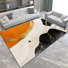 Rug fireside rug Yellow black brown geometric
