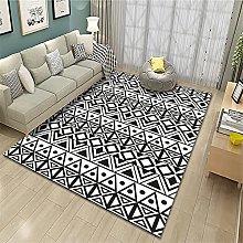 rug for bedroom Black and White Carpet Washable