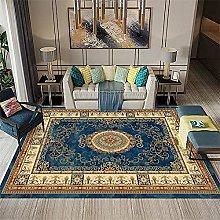 rug for bedroom Blue Brown Carpet Low Velvet