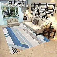 rug for bedroom Blue-Gray Low-Pile Living Room