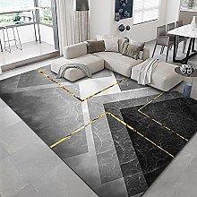 Rug For Bedroom Carpet Golden line gray marble