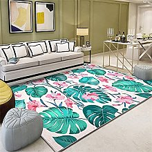 Rug For Bedroom Cosy Rug Green leaves red floral