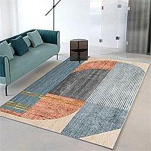 rug for bedroom Girl Room Carpet Orange Blue Gray