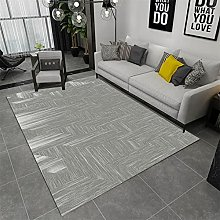 rug for bedroom Gray carpet, casual dust-proof,