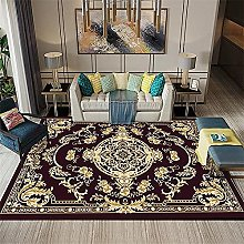 rug for bedroom Living Room Retro Low-Pile Carpet