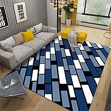 Rug For Bedroom Living Room Sofa Blue white modern