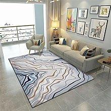 rug for bedroom Purple carpet, curve pattern, easy