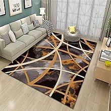 rug for bedroom Washable Brown Carpet Living Room