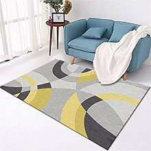 rug for bedrooms Living room carpet yellow curved