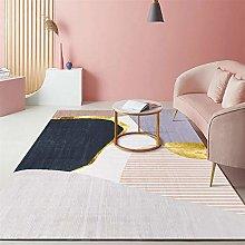 Rug For Bedrooms Non Slip Pink Simple Gentle