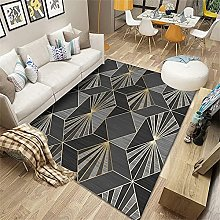 Rug For Boys Bedroom Large Rug Gold gray 3d stereo