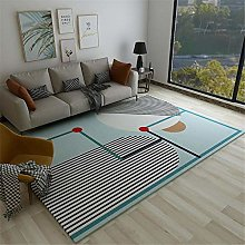 Rug For Girls Bedroom Bright Striped Abstract Art