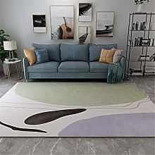 Rug For Girls Bedroom Easy To Clean Green White