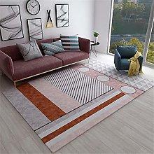 Rug For Girls Bedroom Modern Geometric Stripes