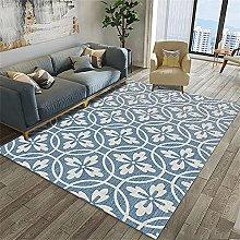 rug for kitchen Blue carpet, floral pattern, warm