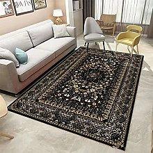 Rug For Kitchen Living Room Carpet Black retro
