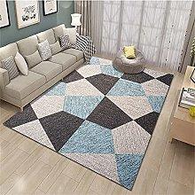 rug for living room Blue carpet, geometric pattern