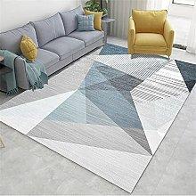 rug for living room Blue carpet, soft triangle